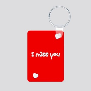 I Miss You Heart Valentines Day Red Keychains