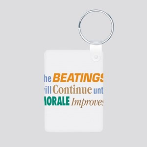 Beatings Will Continue - Aluminum Photo Keychain