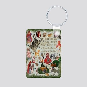 Red Riding Hood Aluminum P Aluminum Photo Keychain