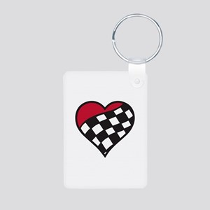 Racing Heart Keychains