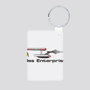 Starship Enterprise Aluminum Photo Keychain