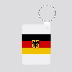 German Government Flag Aluminum Photo Keychain