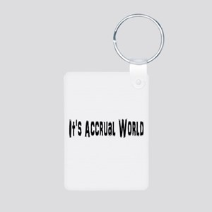 Accural World Aluminum Photo Keychain