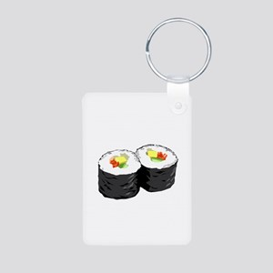 Sushi Aluminum Photo Keychain