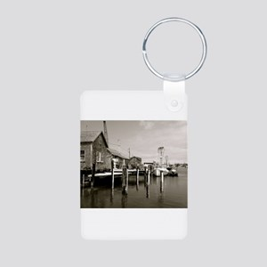 Menemsha Black & White Aluminum Photo Keychain