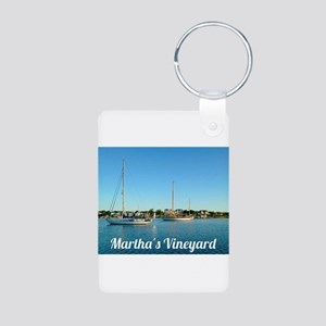 Edgartown Harbor Aluminum Photo Keychain