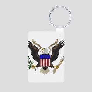 Great Seal Eagle Aluminum Photo Keychain