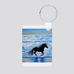 Running Free by the Sea 2 Keychains