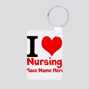 I Love Nursing Keychains