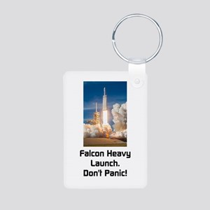 Falcon Heavy Launch- Dark Text Keychains