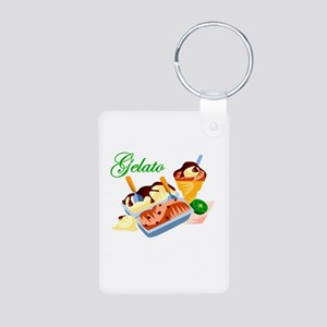 Gelato Aluminum Photo Keychain