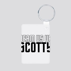 Beam Us Up Scotty Aluminum Photo Keychain