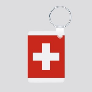 Switzerland Aluminum Photo Keychain
