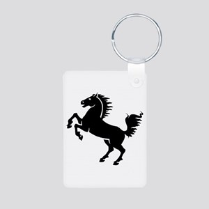 Wild Stallion! Aluminum Photo Keychain