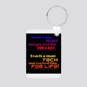 Teach Tech For Life! Aluminum Photo Keychain