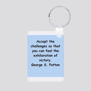 george s patton quotes Aluminum Photo Keychain