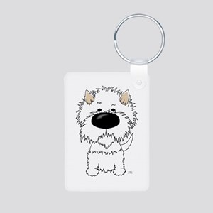 Big Nose Westie Aluminum Photo Keychain