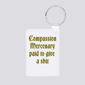 Compassion Mercenary Aluminum Photo Keychain