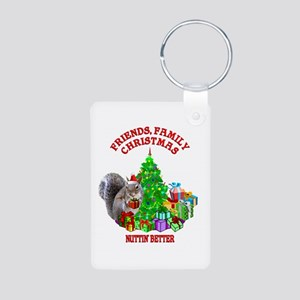Christmas Squirrel Aluminum Photo Keychain