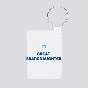#1 Great Granddaughter Aluminum Photo Keychain