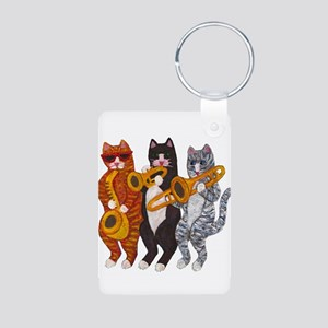 Cat Brass Section Keychains