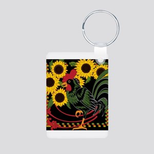 ROOSTER IN THE SUNFLOWERS Keychains