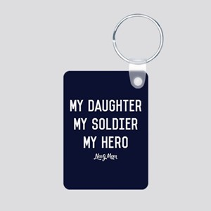 U.S. Navy My Daughter My S Aluminum Photo Keychain