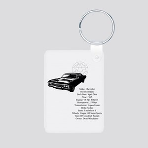 Impala with specs Aluminum Photo Keychain