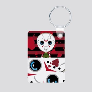 Cute Masked Killer Aluminum Photo Keychain
