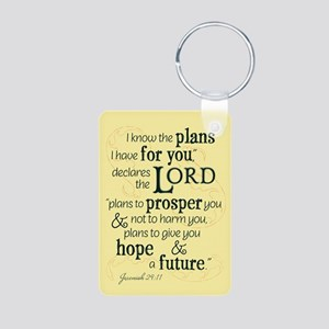 Jeremiah 29:11 hope and a future Keychains