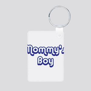 Mommy's Boy Aluminum Photo Keychain