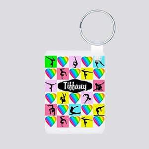 FIERCE GYMNAST Aluminum Photo Keychain