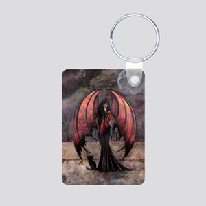 Autumn Mystique Gothic Fairy and Cat Art Keychains