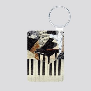 Piano9x8 Aluminum Photo Keychain