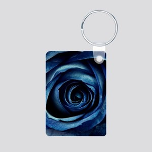 Decorative Blue Rose Bloom Keychains