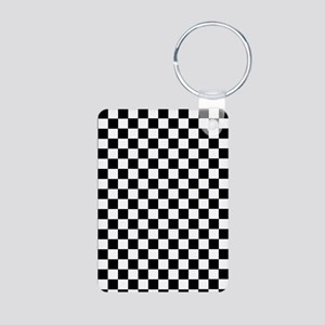 Black White Checkered Keychains