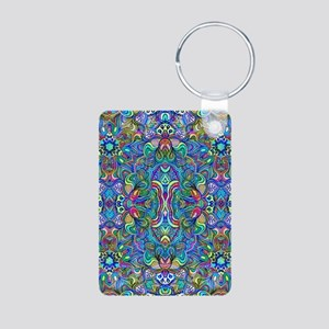 Colorful Abstract Psychedelic Symm Keychains