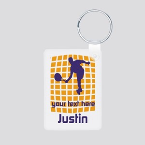 Cool Sport Tennis Aluminum Photo Keychain