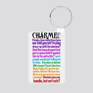 Charmed Quotes Aluminum Photo Keychain