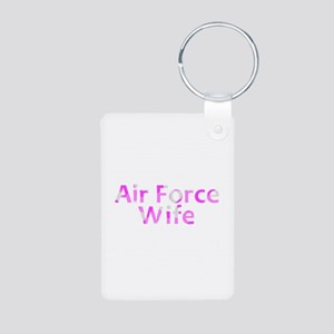 Air Force Wife Pink Camo Aluminum Photo Keychain