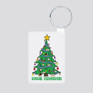 Merry Wheekmas! Guinea Pig Christmas Tree Keychain