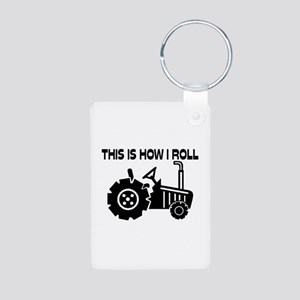This Is How I Roll Farming Aluminum Photo Keychain