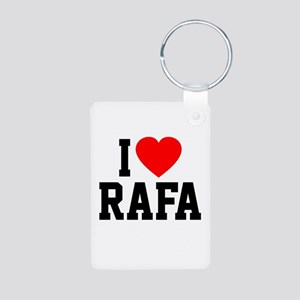 I Love Rafa Aluminum Photo Keychain