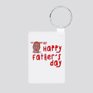 Crabby Father's Day Aluminum Photo Keychain