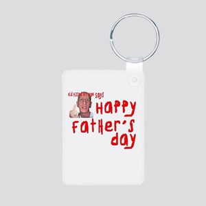 Pissed Off Father's Day Aluminum Photo Keychain
