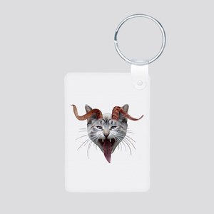 Krampus Cat Aluminum Photo Keychain