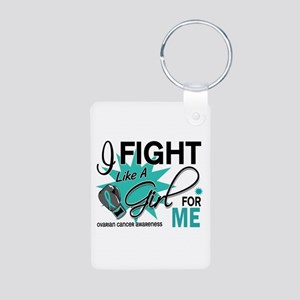 Fight Like a Girl For My Ovarian Cancer Aluminum P