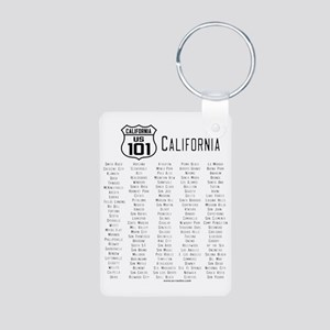 US Route 101 California Ci Aluminum Photo Keychain