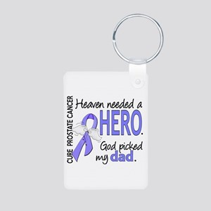 Prostate Cancer HeavenNeed Aluminum Photo Keychain