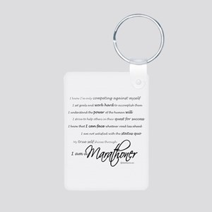 I Am a Marathoner Aluminum Photo Keychain